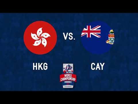 Hong Kong vs Cayman Islands 2017 World Ball Hockey Championships in Pardubice, Czech Republic