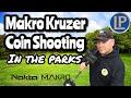 COIN SHOOTING THE PARKS - METAL DETECTING UK MAKRO KRUZER (110)