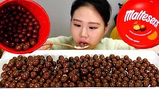 몰티져스와 또똣한 우유 Maltesers Warm milk 먹방 Mukbang Eating Sound