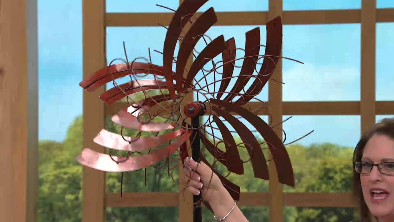 Plow & Hearth Angel Wings Garden Spinner with Rick Domeier - YouTube