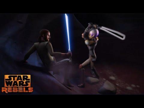 Star Wars Rebels: Kanan & Sabine Emotional Training Scene