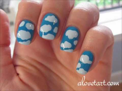 Clouds 2nd Day Nail Art Youtube