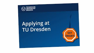 Apply for a degree programme at TU Dresden – explenatory film