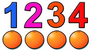 """Counting Oranges"" - Education for Children and Babies, Kids Learn to Count 1234"