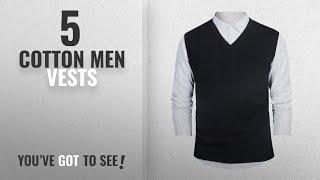Top 10 Cotton Men Vests [Winter 2018 ]: TopTie Mens Business Solid Color Plain Sweater Vest, Cotton