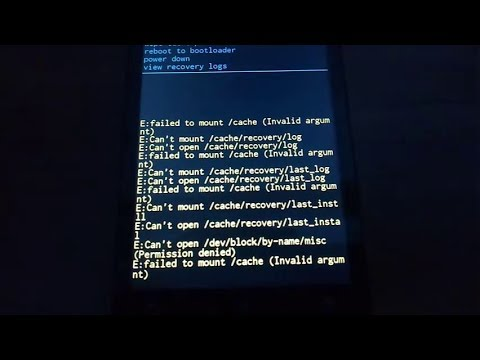 How to Fix E:failed to mount /cache (Invalid argument) on ZenFone 5 (Asus  T00F) ?