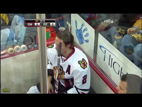 Duncan Keith's Head Shot On Matt Cooke (12-5-2009)