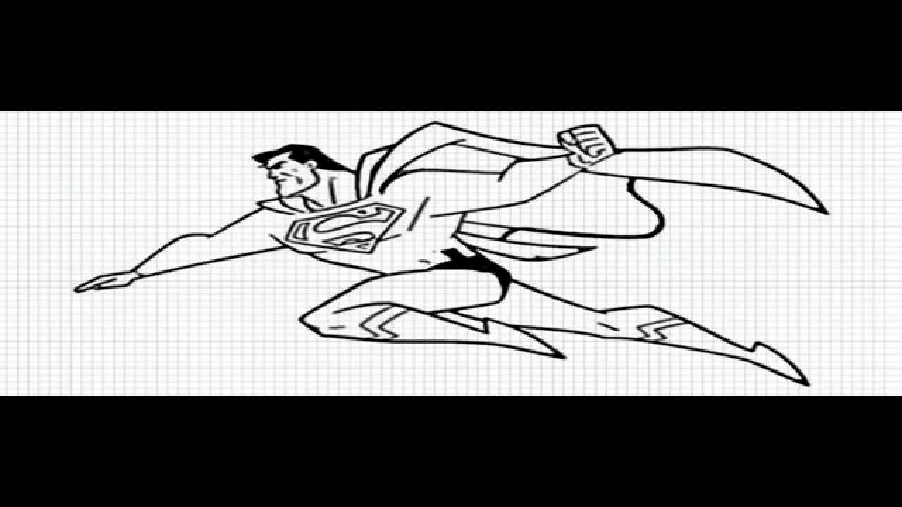 Superman How To Draw Superman Video Superman Easy Drawings