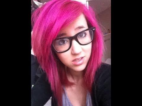 bright hot pink hair