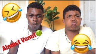 Egg Yolk Challenge (Almost Vomit)!!!!