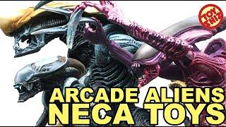 neca toys alien vs predator arcade aliens