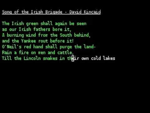 David Kincaid - Song of the Irish Brigade
