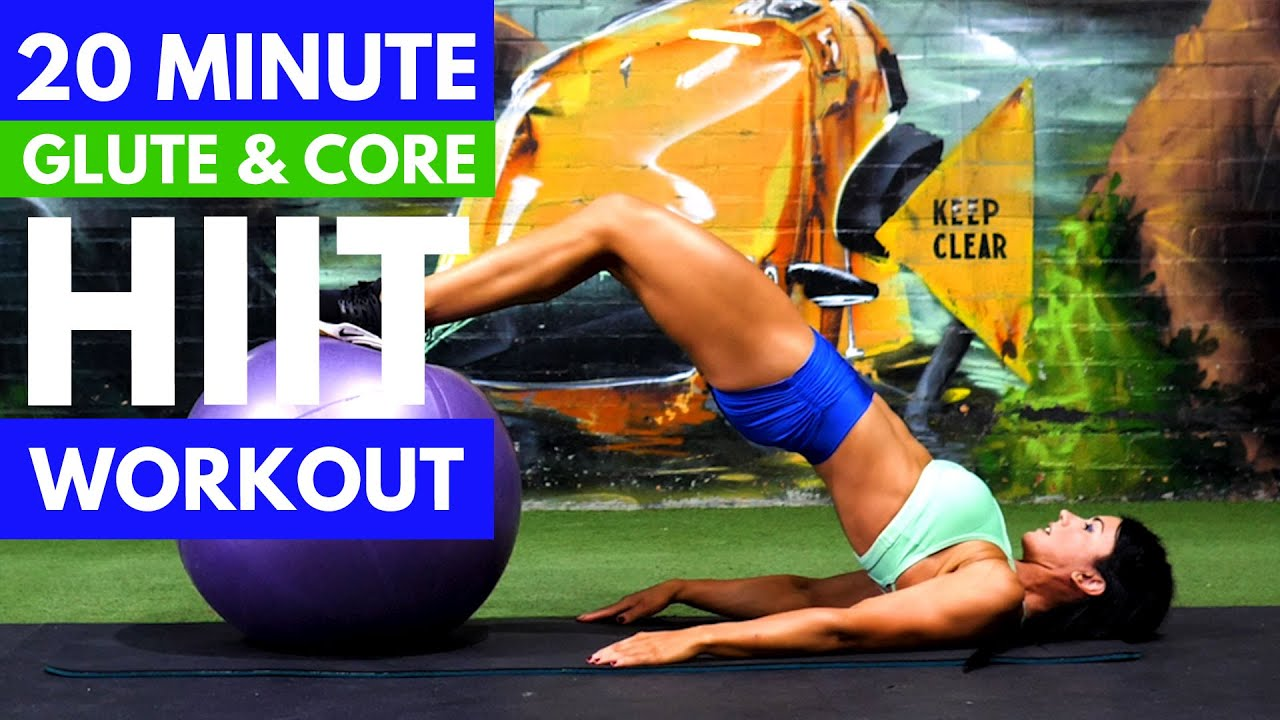 20-Minute HIIT Workout | Glute Core Jump Workout At Home