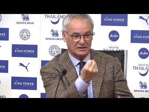 Claudio Ranieri Pre-Match Press Conference - Leicester v Manchester United - Embargo Extras