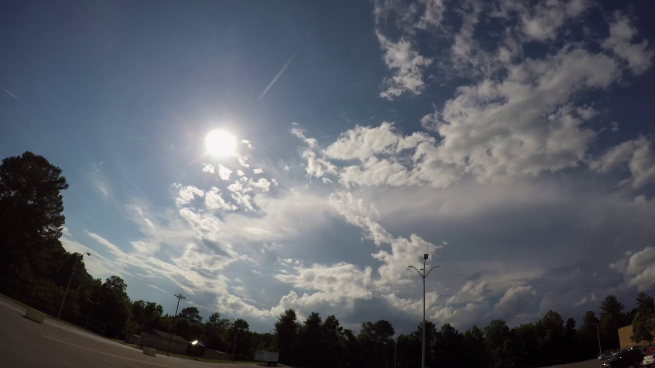 Sunbeams and storm cells - YouTube