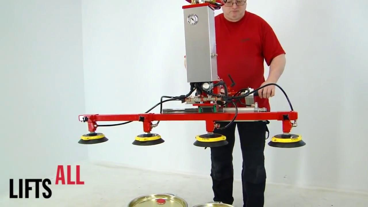 Manipulador industrial para elevar bidones