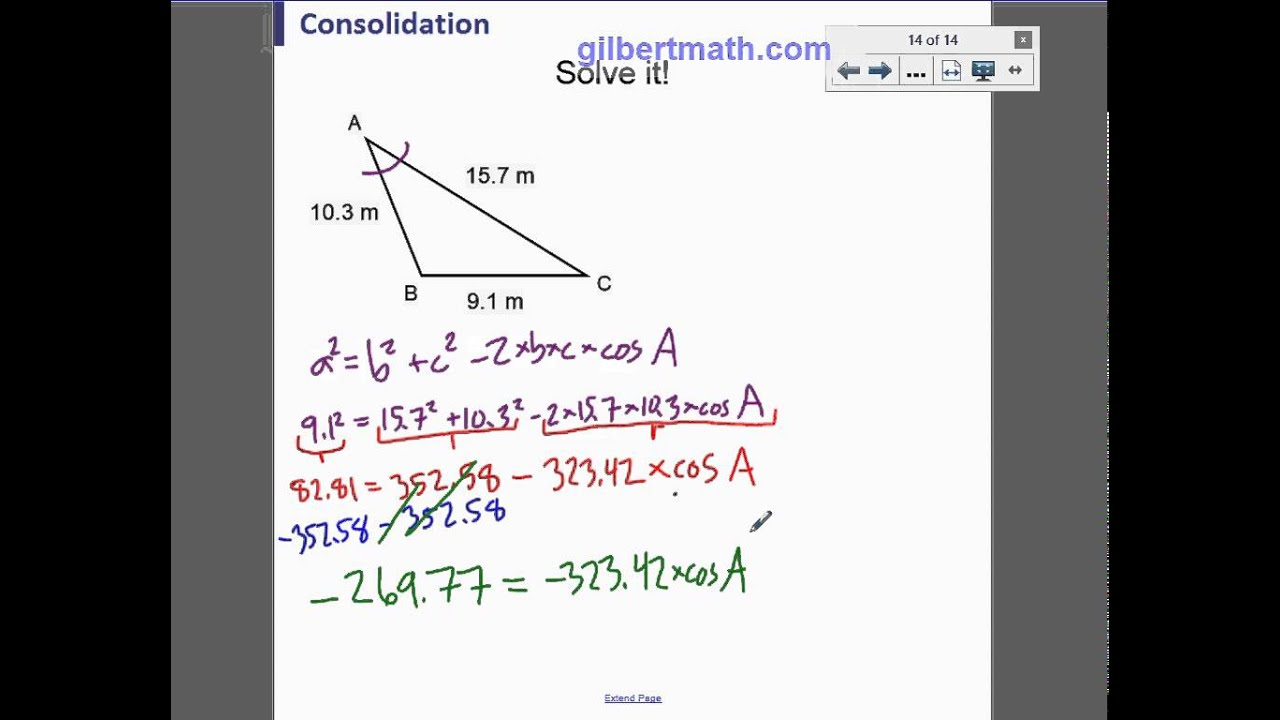 3c solving a non right triangle given three sides youtube 3c solving a non right triangle given three sides ccuart Choice Image