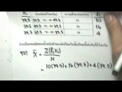 เฉลยข้อสอบO-NETปี54สถิติข้อ36