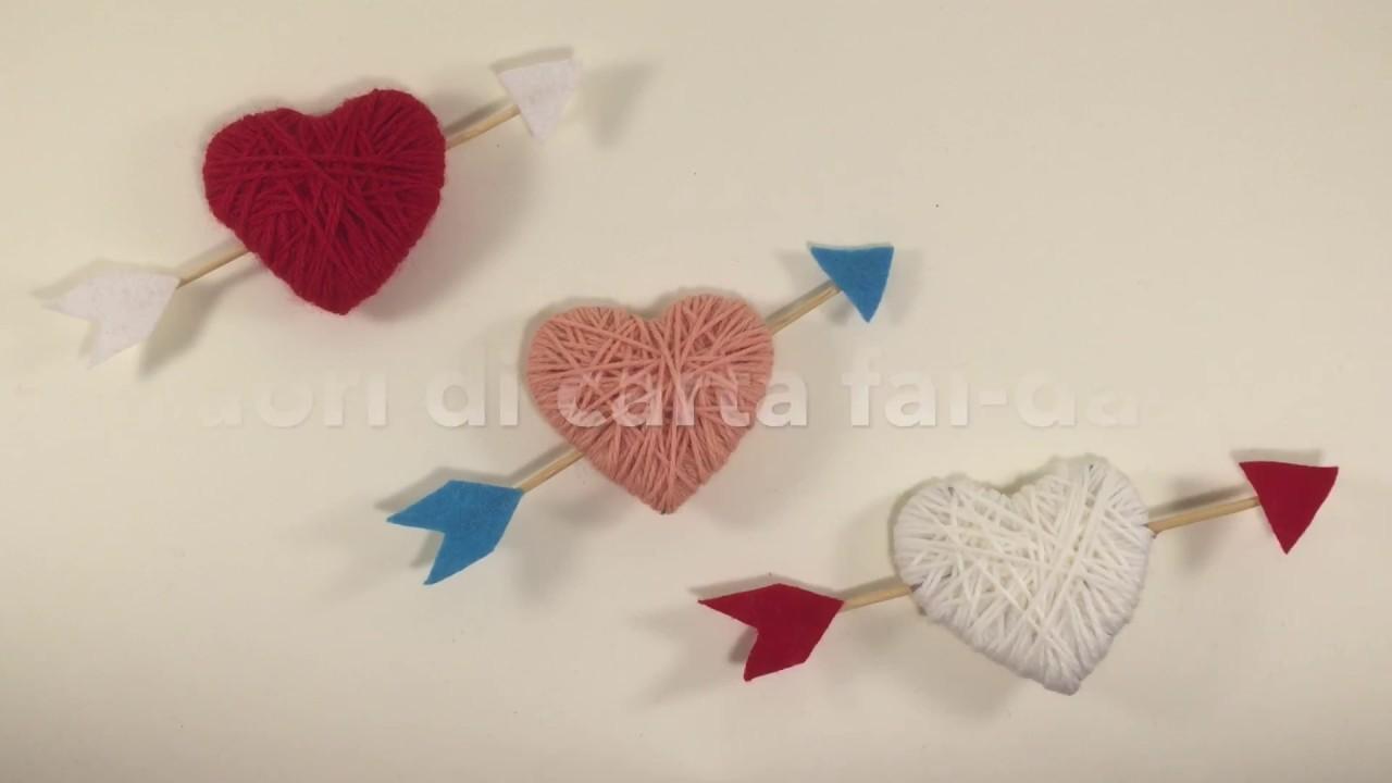 Cuori di carta fai da te riciclando il cartone idee for Idee san valentino fai da te