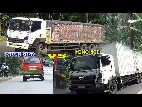 truck-tronton-isuzu-giga-240ps-muatan-semen-vs-truck-tronton-box-hino-500