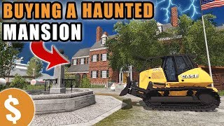 FLIPPING A HAUNTED MANSION FOR A MILLION DOLLARS | REAL ESTATE INVESTING! | FARMING SIMULATOR 2017
