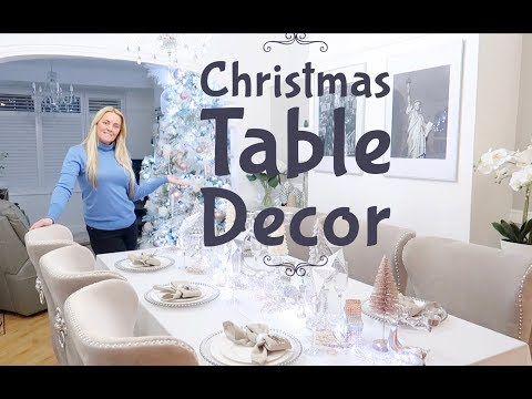 How To Decorate Your Table For Christmas Table Decor Ideas settings