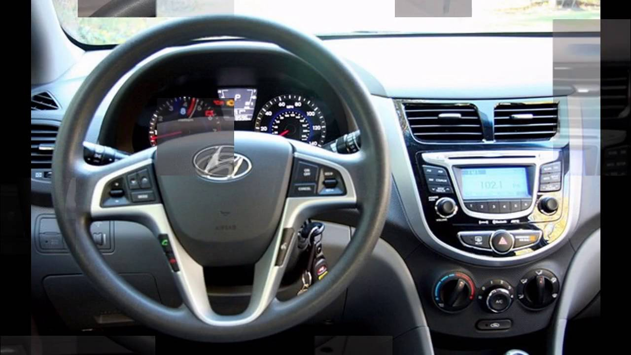 hyundai accent 2016 interior youtube. Black Bedroom Furniture Sets. Home Design Ideas