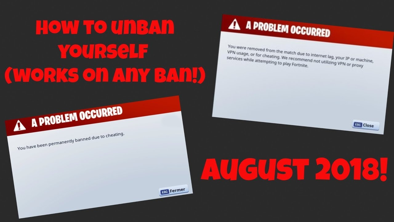 2019 MARCH Fortnite   How to Unban Yourself [REMOVED FROM THE MATCH  VPN/IP/CHEATING] fix