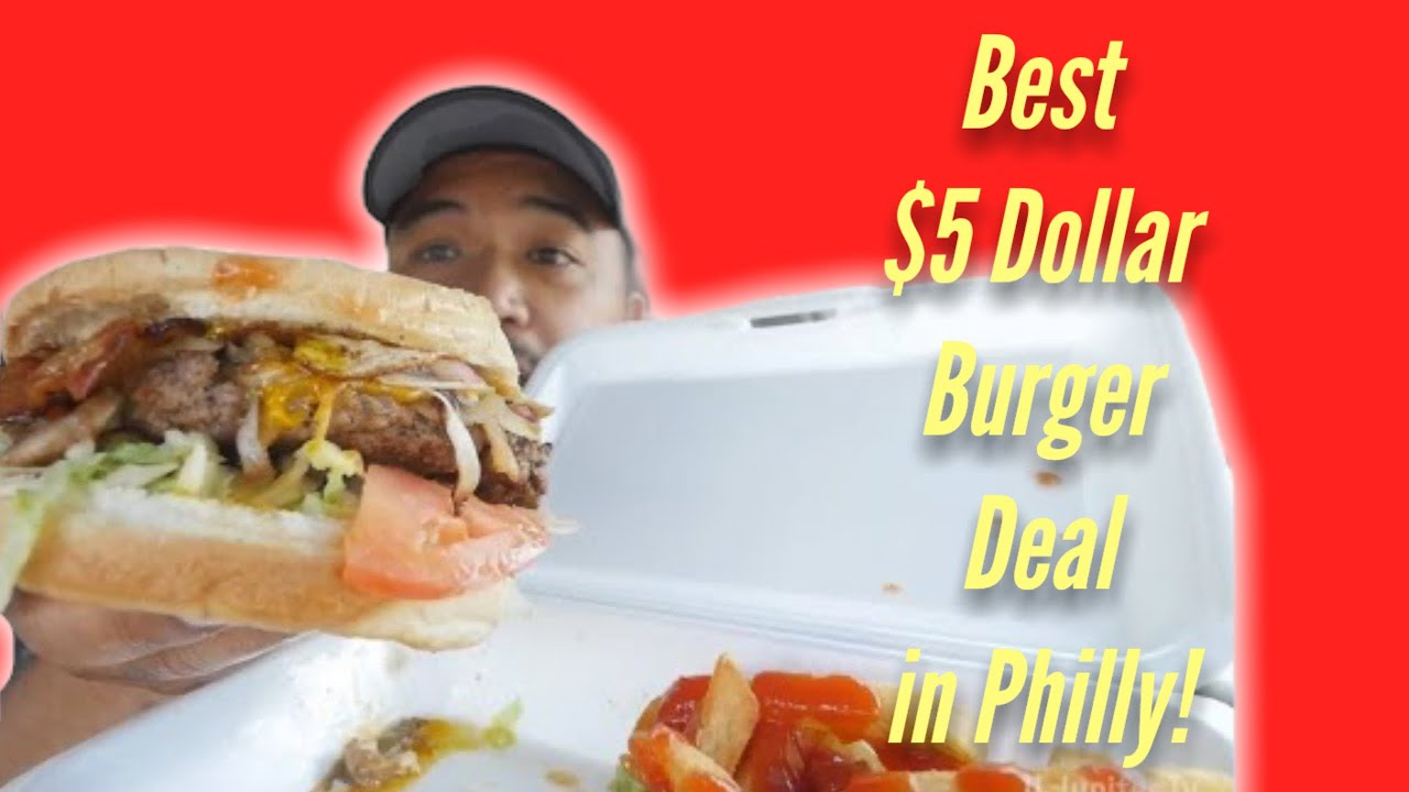 """Cheap Eats in South Philly   """"$5 dollar burger stop"""" food cart"""