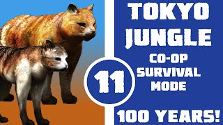 Let's Play Tokyo Jungle Co-op (Survival Mode) Part 11 - 100 Years of Pussy (Cat and Fat Cat)