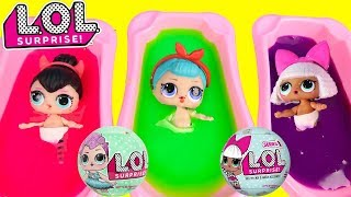 HUGE Slime Bath Fun with LOL Surprise Dolls - TONS of SLIME!