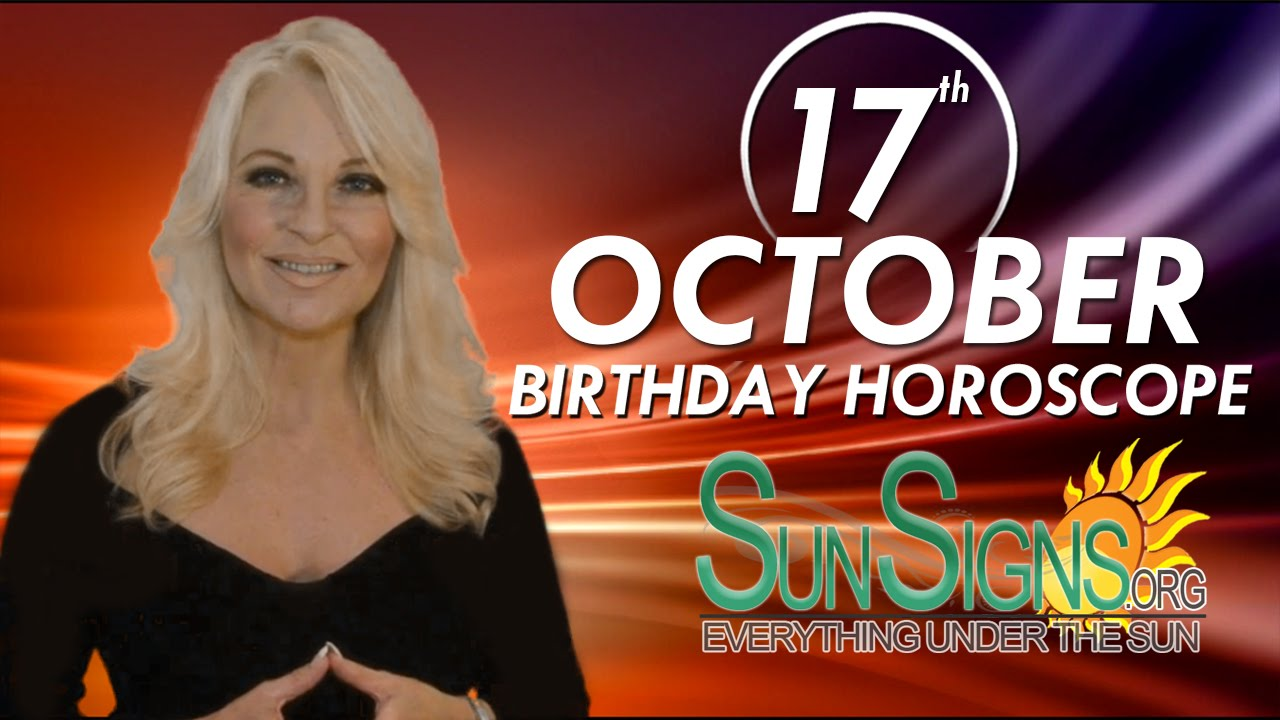 horoscope by date of birth 17 october numerology