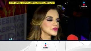 ¿Lucía Méndez dice tener más trayectoria que Verónica Castro? | De Primera Mano