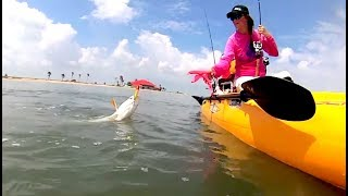 "30milesOut.com~"" ROCKPORT REDS ""  kayak fishing"