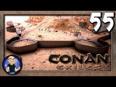 Building More Walls & Starting a Town! - Conan Exiles Multiplayer Gameplay E55