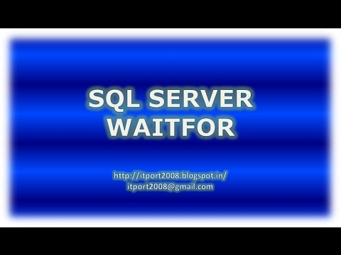 WAITFOR DELAY | TIME in SQL Server