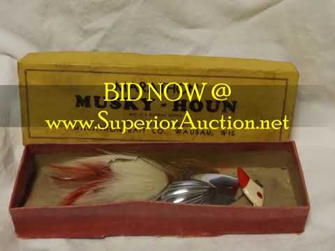 ANTIQUE FISHING LURE COLLECTOR'S ONLINE AUCTION