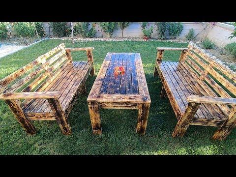 Paletten Yapılabilecek En Güzel Bahçe Takımı - Video1 - The Most Beautiful Garden Seat From Palette