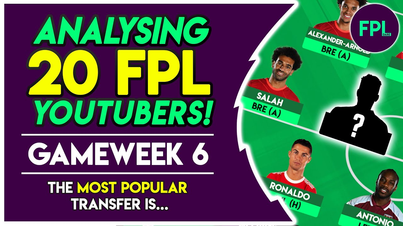 I analysed 20 YOUTUBER'S FPL GW6 TRANSFER PLANS & this is what I found! Fantasy Premier League 2021