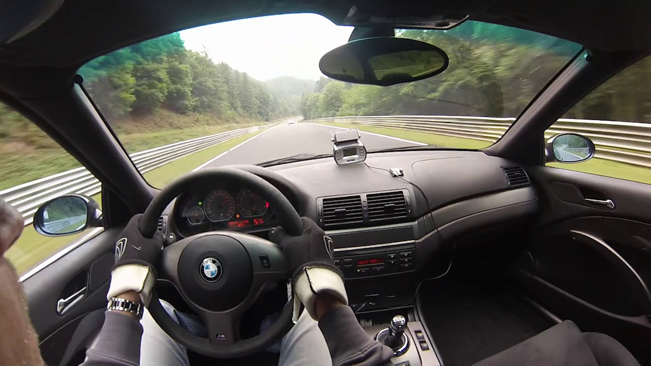 BMW e46 M3 CSL Nurburgring Nordschleife TF 2nd July 2017 ...