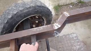 как сделать мини трактору раму
