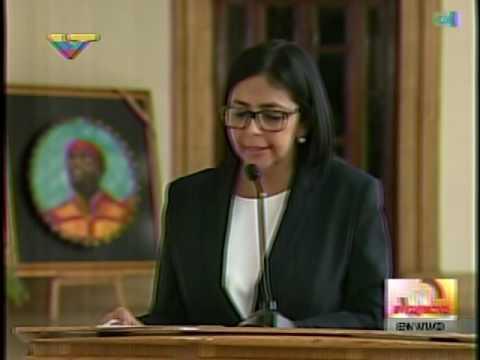Canciller venezolana lee comunicado luego de ataque de EEUU imponiendo sanciones a Tareck El Aissami