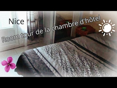 Room tour de la chambre d'hôtel à Nice