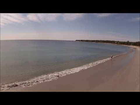 Drone footage of Bayswater Beach, Nova Scotia