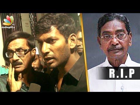 Vishal pays homage to old Nadigar sangam member   Mano Bala