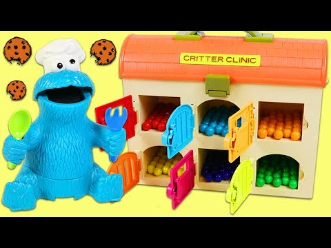 Thumbnail: LEARN COLORS Feeding Cookie Monster Colorful Treats from Toy Hospital Best Learning Video for Kids!