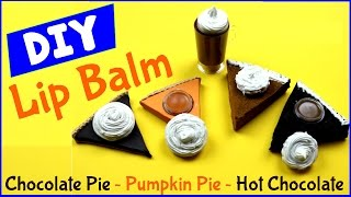 diy crafts diy lip balm tinted squishy polymer clay containers pumpkin chocolate pie