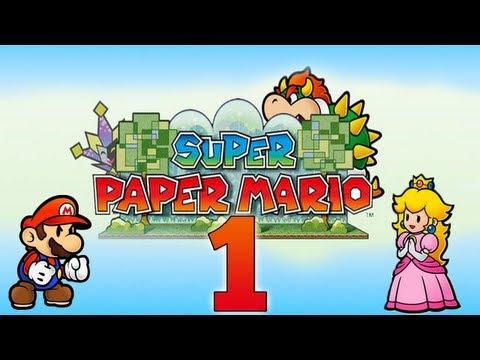 Super Paper Mario - Let's Play Super Paper Mario Part 1 | Prolog: Eine dunkle Liebe