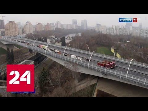Около ста километров новых дорог было построено в столице в 2019 году - Россия 24