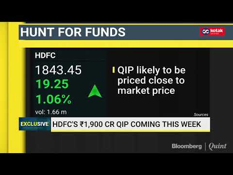 HDFC To Launch Rs 1,900 Crore QIP This Week